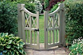 THE GATE LEADING INTO ALICES GARDEN AT WOLLERTON OLD HALL  SHROPSHIRE