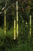 THIN GLASS TUBES OF LIGHT BY BARBARA HUNT IN THE NATURAL AND ORIENTAL WATER GARDEN  HAMPTON COURT 97
