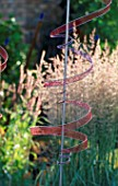 KNITTED WIRE SPIRAL AERIAL BY JAN TRUMAN IN THE CSMA GARDEN HAMPTON COURT 1997