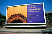 LONDON BILL BOARD ADVERTISING NEW SHOOTS EXHIBITION  WHITE PEAKS AT KEW ROYAL BOTANIC GARDENS