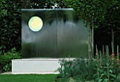SANCTUARY GARDEN SPONSORED BY MERRILL LYNCH AT THE CHELSEA FLOWER SHOW 2002: DESIGNED BY STEPHEN WOODHAMS: WATER FEATURE