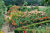THE PRIORY  BEECH HILL  BERKSHIRE: TRIANGULAR PICKING BED WITH ALSTROEMERIAS
