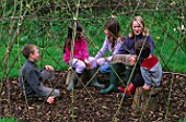 DESIGNER CLARE MATTHEWS: WILLOW DEN PROJECT - CHILDREN TALKING INSIDE WILLOW DEN