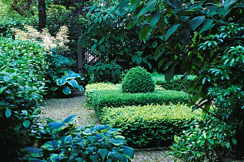 AMSTERDAM_PRIVATE_GARDEN__KEIZERSGRACHT_609__GREEN_GARDEN_WITH_PARTERRE_OF_BOX_BLOCKS