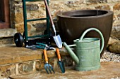 TOOLS FOR PLANTING CONTAINERS - SECATEURS TROWEL  FORK  TROLLEY