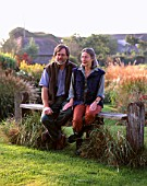 LUCY GOFFIN AND GRAHAM GOUGH AT MARCHANTS HARDY PLANTS  SUSSEX