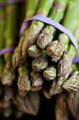 ASPARAGUS BUNCHES. TIP  VEGETABLE  FRESH  FOOD  GREEN  HEALTHY