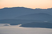 CORFU  GREECE: THE ALBANIAN COASTLINE SHORTLY BEFORE DAWN