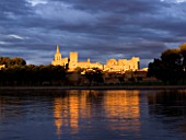 FRANCE  PROVENCE  AVIGNON  SUNSET WITH STORMY CLOUDS