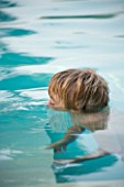 BOY (AGED 13) DROWNING IN SWIMMING POOL. HEAD UNDER WATER