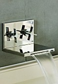 TANIA LAURIE  LONDON. STYLISH  CONTEMPORARY WALL MOUNTED CHROME TAP