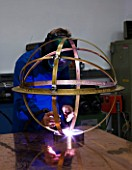 DAVID HARBER SUNDIALS: EACH SUNDIAL IS CREATED USING THE LATEST TECHNIQUES INCLUDING PLASMA AND LASER CUTTING ELECTRO-PLATING POLISHING AND WELDING