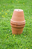 DESIGNER: CLARE MATTHEWS - ORGANIC VEGETABLE GARDEN/ POTAGER PROJECT  DEVON: AN OLLA USED FOR IRRIGATION