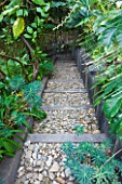 DESIGNER: JEAN-LAURENT FELIZIA  FRANCE: STEPS OF BLACK WOOD AND STONE CHIPPINGS