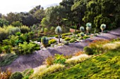 DESIGNER: JEAN-LAURENT FELIZIA  FRANCE: VIEW DOWN ONTO A SUCCULENT GARDEN