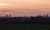 TEESSIDE  UNITED KINGDOM  AT SUNSET - INDUSTRY  INDUSTRIAL  HEAVY INDUSTRY