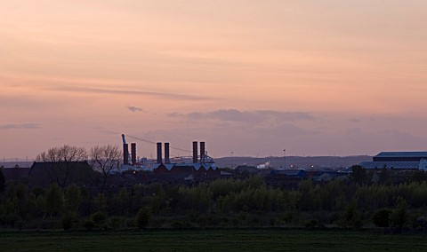 TEESSIDE__UNITED_KINGDOM__AT_SUNSET__INDUSTRY__INDUSTRIAL__HEAVY_INDUSTRY