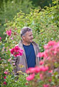 ANDRE EVE ROSE NURSERY  FRANCE: ROSE BREEDER AND NURSERYMAN JEROME RATEAU OF LES ROSES ANCIENNES ANDRE EVE
