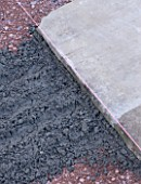 DESIGNER: CLARE MATTHEWS  DEVON - PAVING PROJECT - PAVING LAID AGAINST PLUM LINE