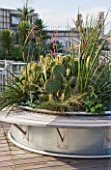 ROOF GARDEN AT THE HOLIDAY INN  RUE DANTON  PARIS: DESIGNERS ERIC OSSART AND ARNAUD MAURIERES: