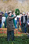 HOLLY AND MISTLETOE AUCTION  TENBURY WELLS  WORCESTERSHIRE - HOLLY BEING AUCTIONED BY HARVEY RAYBOLDE