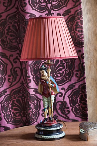 CHATEAU_DU_RIVAU__LOIRE_VALLEY__FRANCE_PURPLE_THEMED_BEDROOM__BEDSIDE_LIGHT
