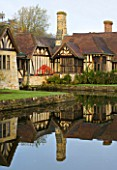 HEVER CASTLE  KENT  AUTUMN: VIEW OF THE ASTOR WING REFLECTED IN THE MOAT - REFLECTION