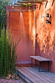 AFRICAN GARDEN  PROVENCE  FRANCE: DESIGNER DOMINIQUE LAFOURCADE: OUTDOOR SHOWER