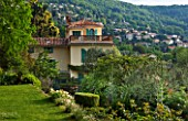 VILLA FORT FRANCE  GRASSE  FRANCE: THE VILLA FROM ONE OF THE TAERRACES