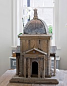 RICHARD CARNILL HOUSE  NOTTINGHAMSHIRE: BREAKFAST ROOM; REPLICA TEMPLE OF THE FOUR WINDS FROM CARNILL & COMPANY