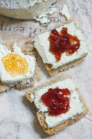 DOMINIQUE_BLANCHARD_SAFFRON_FARM__LOIRE_VALLEY_FRANCE_HOME_MADE_BREAD_SPREAD_WITH_LOCAL_GOATS_CHEESE