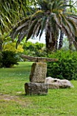 SICILY  ITALY: LA CASE BIVIERE NEAR LENTINI - AN ANCIENT ANCHOR RETRIEVED FROM THE FORMER LAKE IL BIVIERE