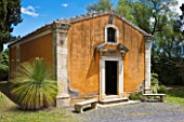 SICILY  ITALY: LA CASE BIVIERE NEAR LENTINI - THE CHAPEL OF ST ANDREW WITH DASYLIRION LONGISSIMUS