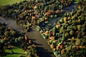 SHEFFIELD PARK GARDEN  SUSSEX - FROM THE AIR  IN AUTUMN: