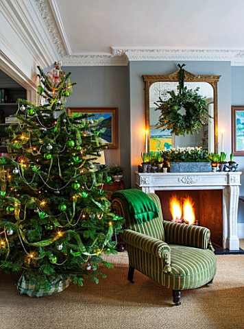 BUTTER_WAKEFIELD_HOUSE_LONDON_CHRISTMAS_SITTING_ROOM_DECORATED_WITH_CHRISTMAS_TREE_FIREPLACE_WITH_WR