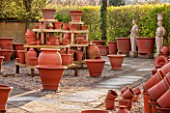 WHICHFORD POTTERY, WARWICKSHIRE: TERRACOTTA CONTAINERS IN THE SALES AREA