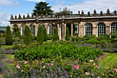 CHATSWORTH HOUSE, DERBYSHIRE: THE FIRST DUKES HOUSE BUILT 1697 FOR 1ST DUKE OF DEVONSHIRE, ORIGINALLY FOR CITRUS FRUITS. NOW HOME TO THE CAMELLIA COLLECTION.BUILDING,ARCHITECTURE.
