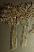 ABIGAIL AHERN HOUSE, LONDON: GOLD WIRE PALM TREE WALL SCULPTURE - ORNAMENT