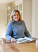 THE COACH HOUSE,SURREY: OWNER BARBARA BROOKS IN THE BREAKFAST ROOM
