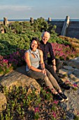 SEASIDE GARDEN DESIGNED BY ANTHONY PAUL: GARDENER ESTHER BURLEY AND GARDEN DESIGNER ANTHONY PAUL