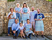 ALHAM FARM, SOMERSET: CORNISHWARE: THE CORNISHWARE TEAM IN THE POTTERY YARD