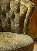 MARBURY HALL, SHROPSHIRE: DESIGNER SOFIE PATON-SMITH - DINING ROOM, VICTORIAN INSPIRED CHRISTMAS, DETAIL OF CHAIR