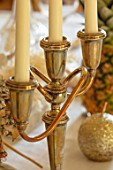 MARBURY HALL, SHROPSHIRE: DESIGNER SOFIE PATON-SMITH - VICTORIAN CHRISTMAS, CANDLE STICK DETAIL