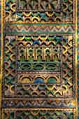 TAROUDANT, MOROCCO: DESIGNERS ARNAUD MAURIERES AND ERIC OSSART:  DETAIL OF OLD DOOR