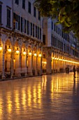 CORFU, GREECE -  CORFU TOWN - THE LISTON AT NIGHT