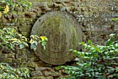 CANONS ASHBY, NORTHAMPTONSHIRE, THE NATIONAL TRUST- MUSKET AND PISTOL TARGET ON WALL